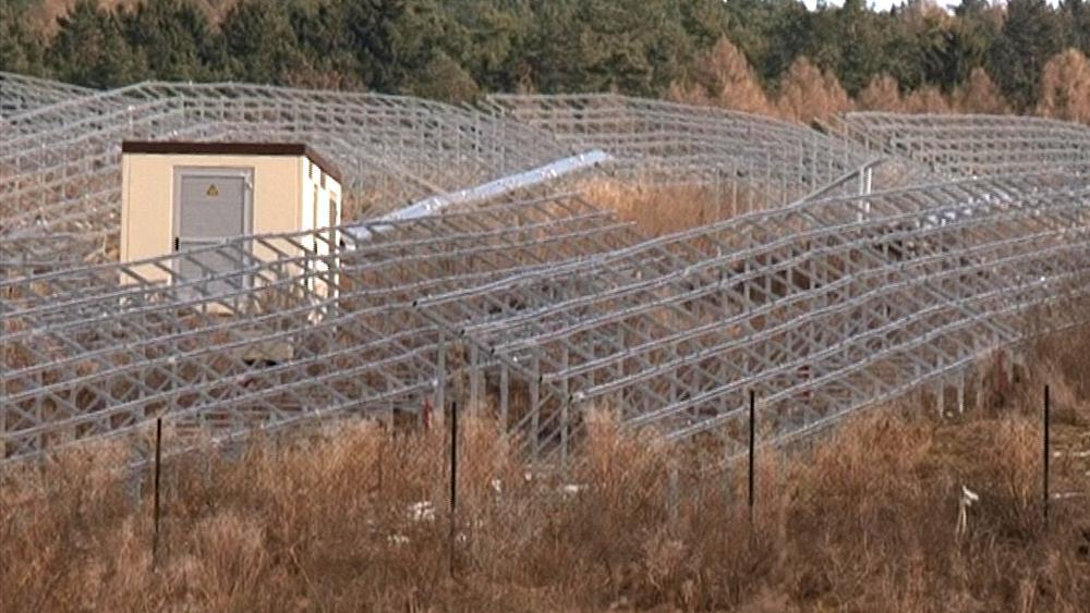 Nedokončená fotovoltaická elektrárna v Ráječku