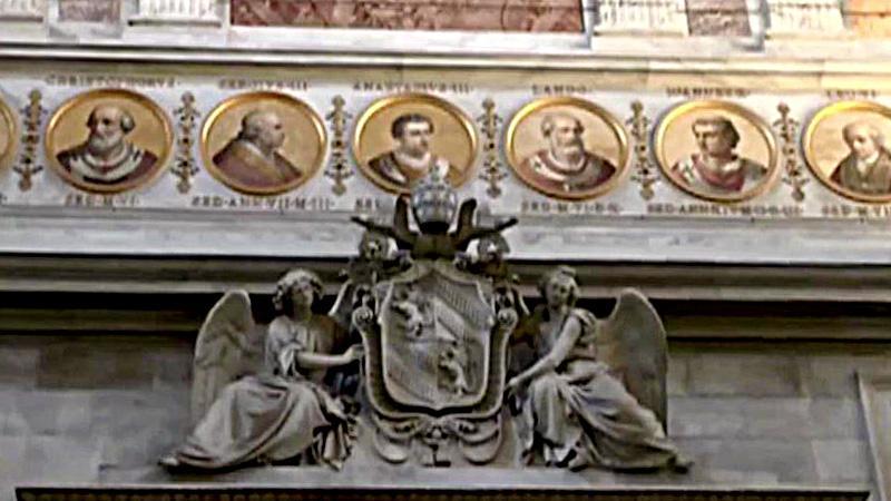 Portréty papežů v Bazilice sv. Pavla za hradbami