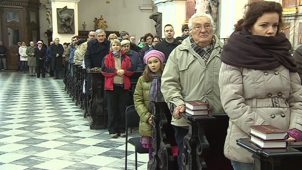 Děkovná mše v brněnské katedrále sv. Petra a Pavla