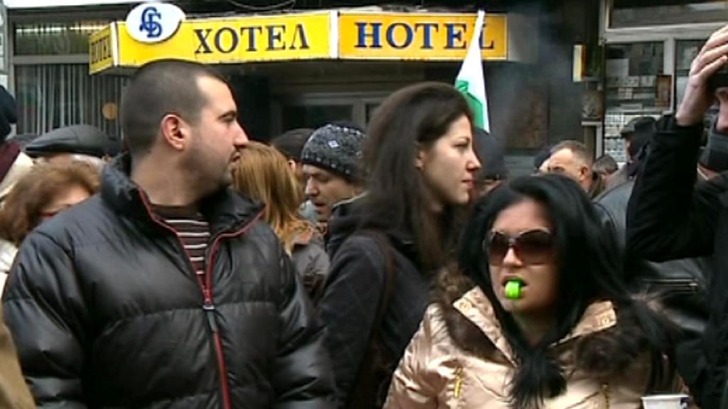 Protest Bulharů proti drahé elekřině