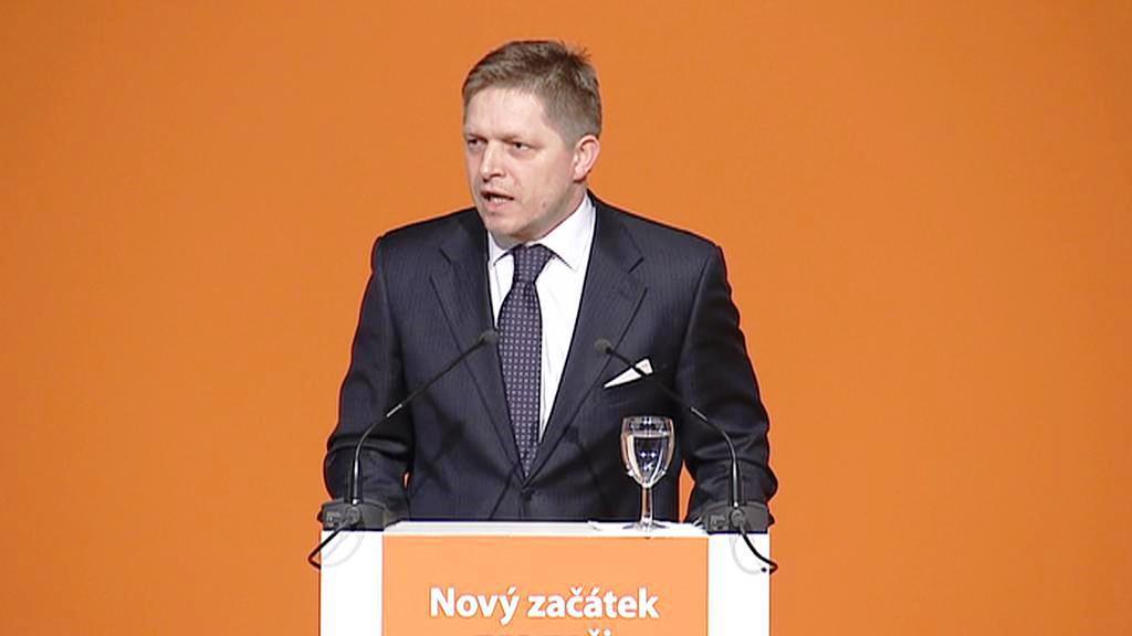 Robert Fico na sjezdu ČSSD