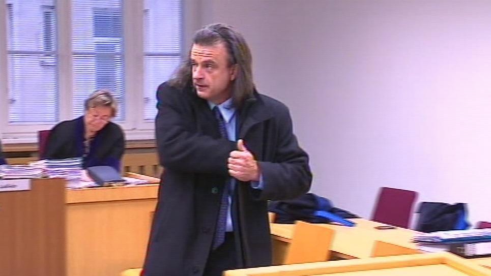 Polslanec Otto Chaloupka před soudem