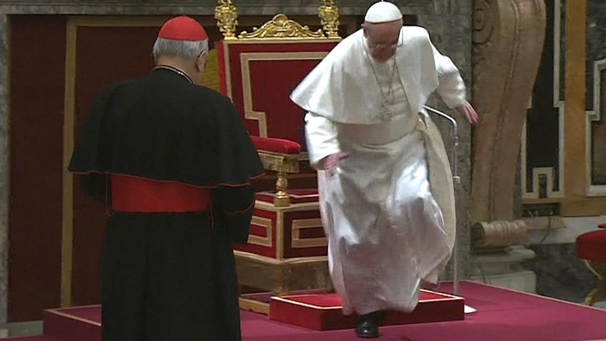 Vrávorající papež