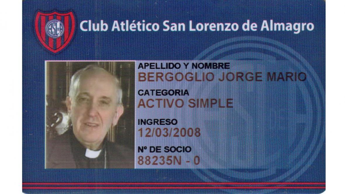 Jorge Mario Bergoglio je vášnivým fotbalovým fanouškem