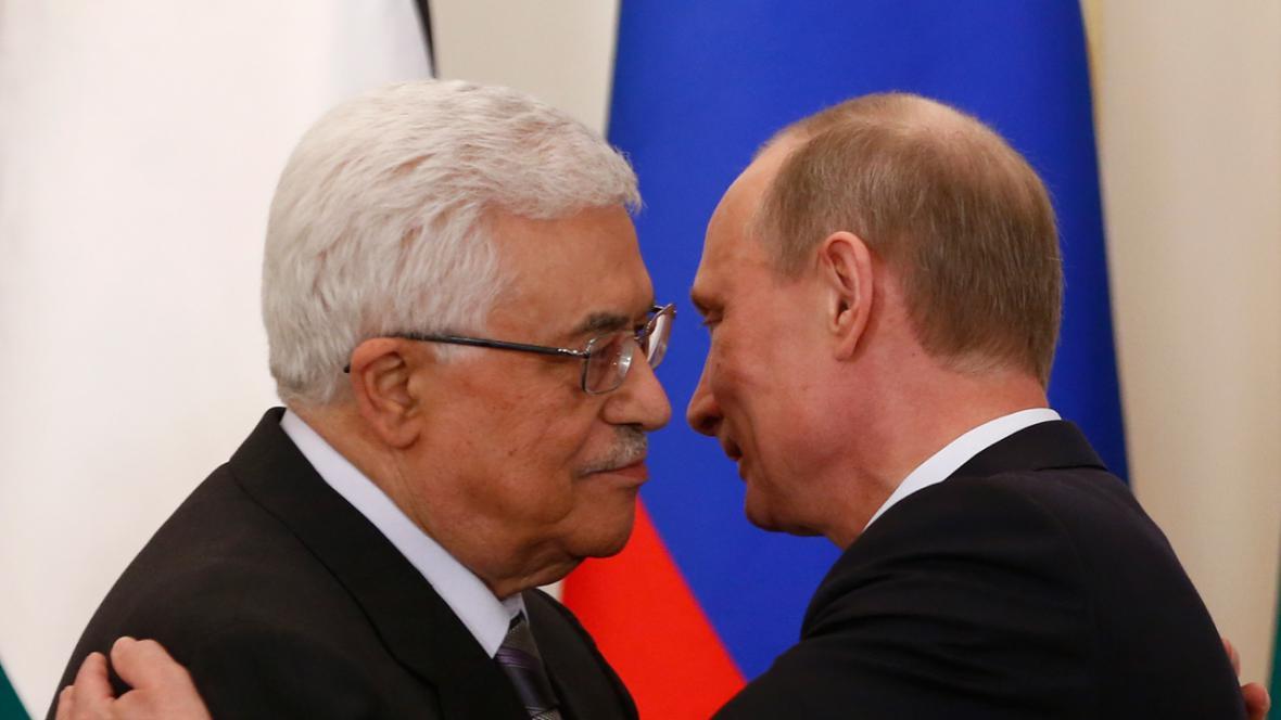 Mahmúd Abbás a Vladimir Putin