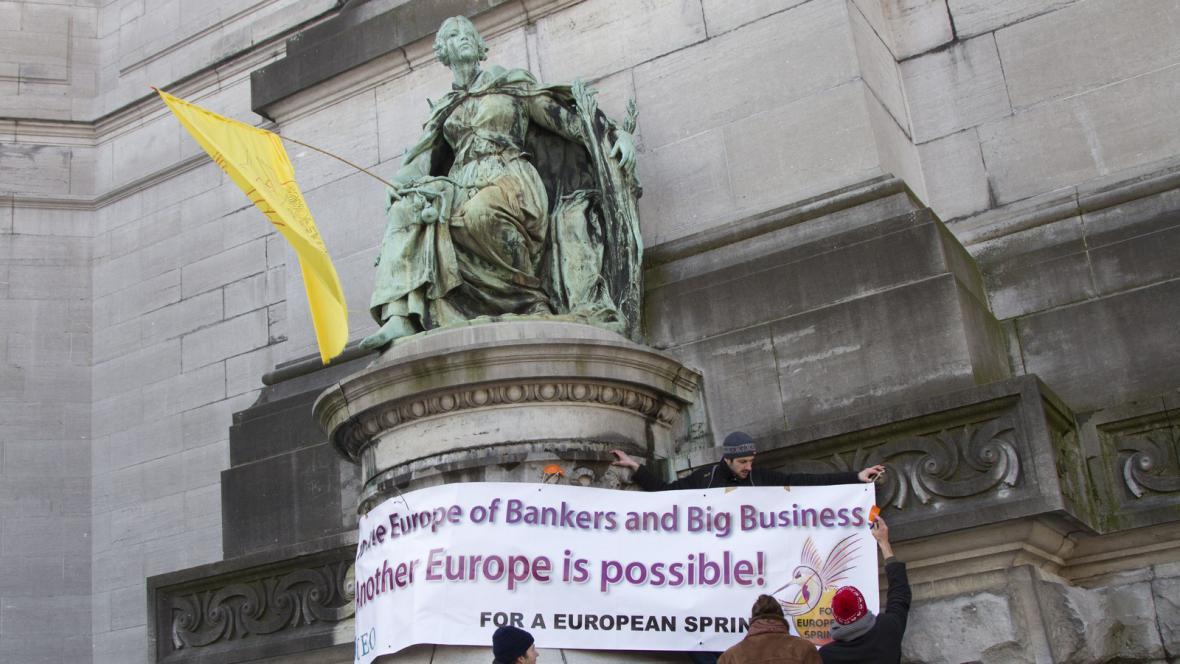Protesty v Bruselu