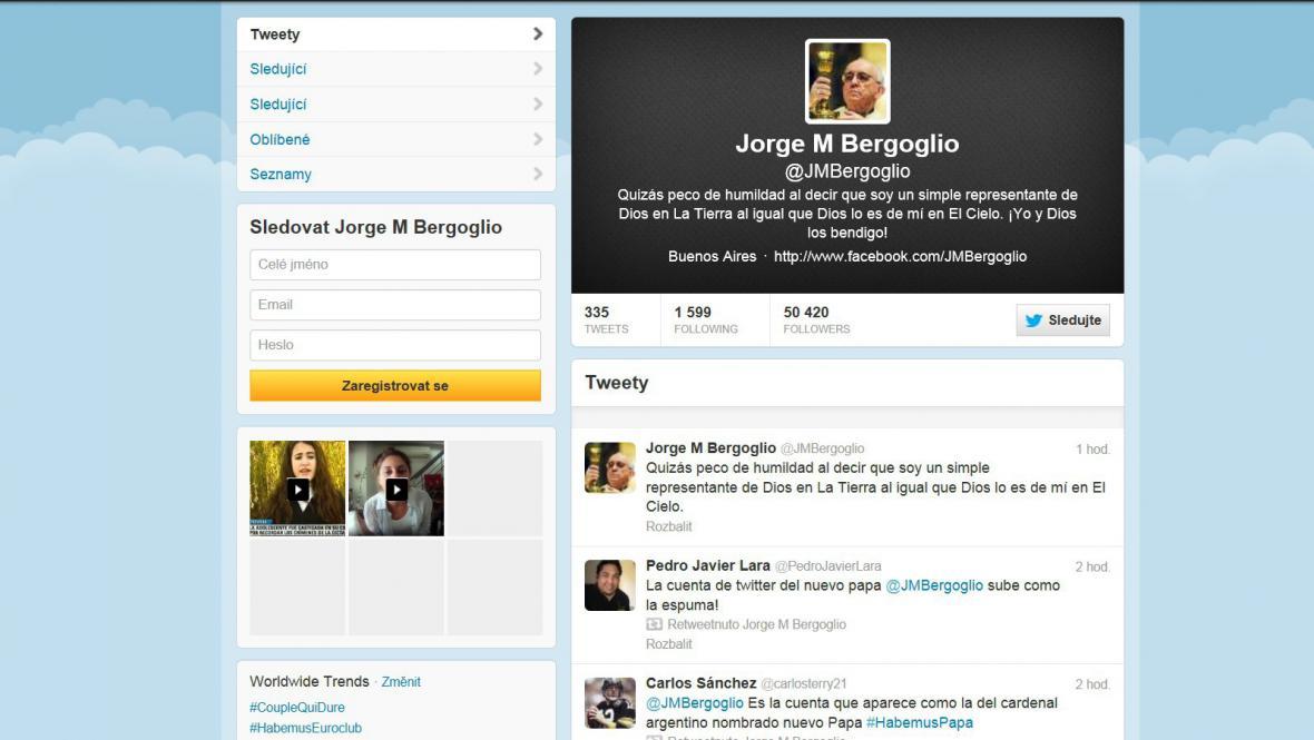 Papežův twitterový účet