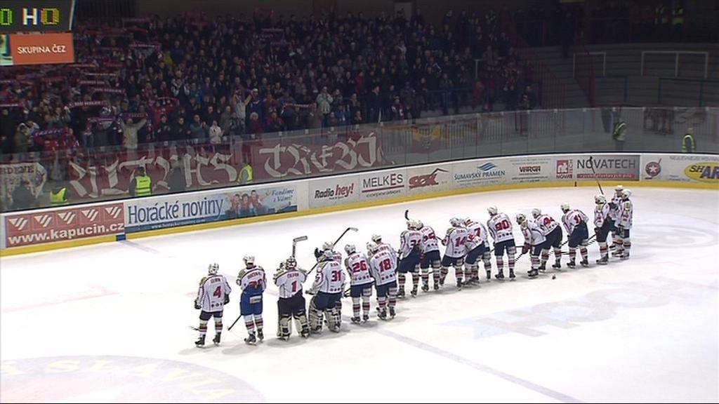 Fanoušci v Třebíči se prvoligového semifinále dočkali po jedenácti letech