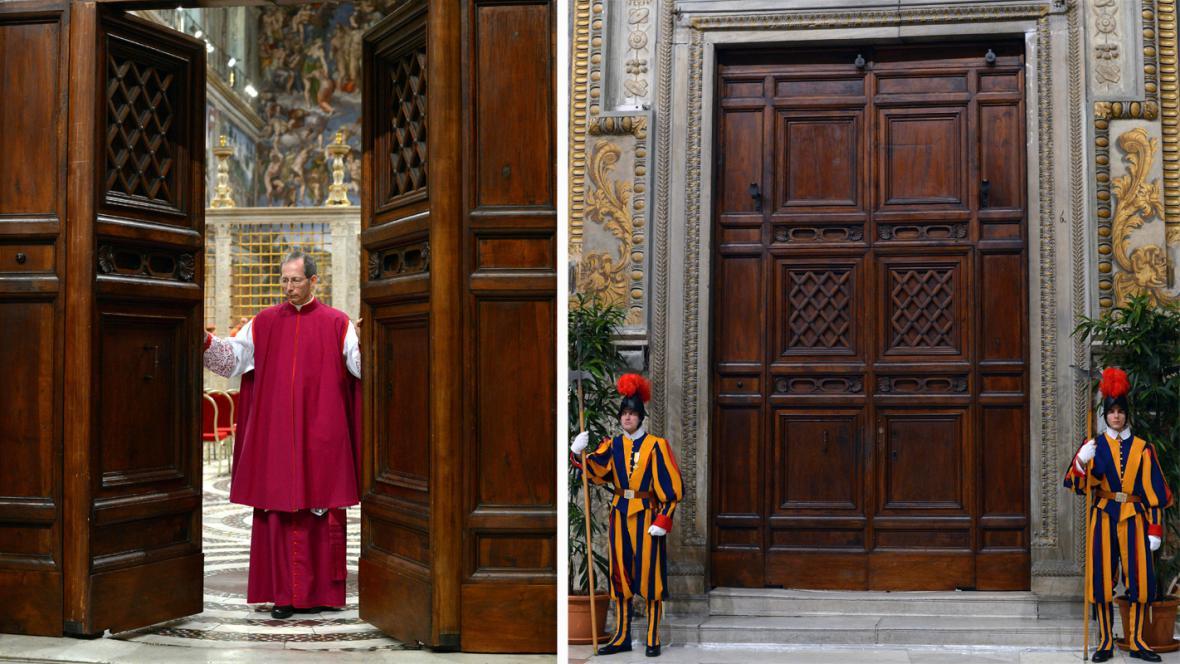 Dveře Sixtinské kaple se zavřely