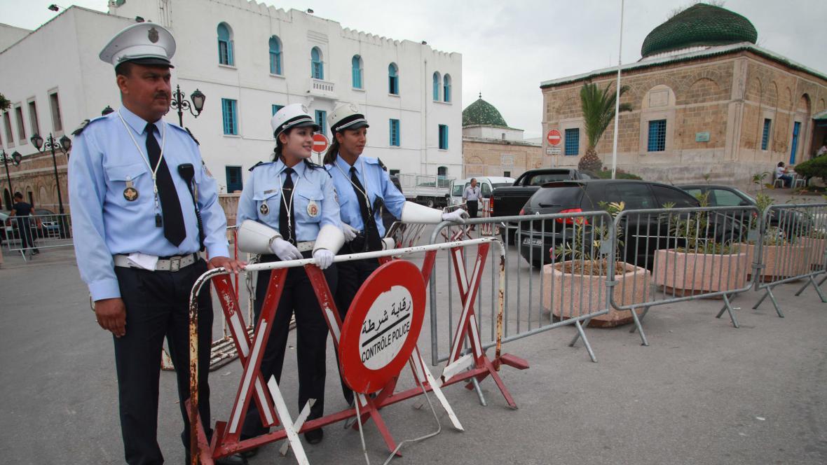 Policie v Tunisu
