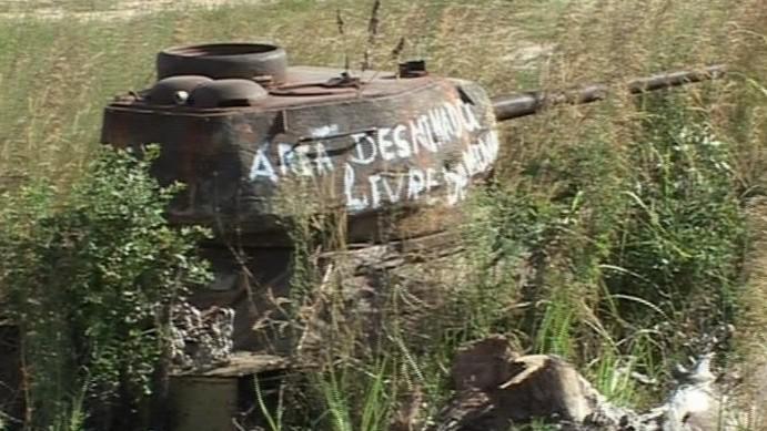Angola, záběry z dokumentu ČT Zajati v Angole