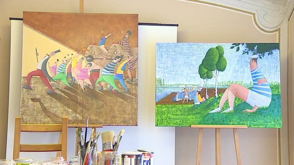 Obrazy postižených umělců, které zamíří do aukce
