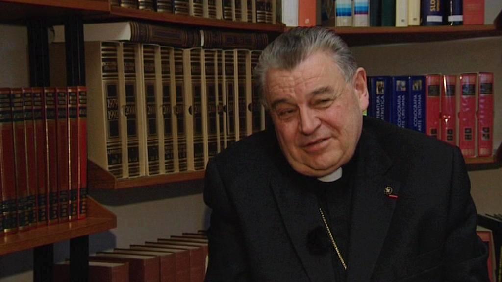Dominik Duka při rozhovoru pro ČT