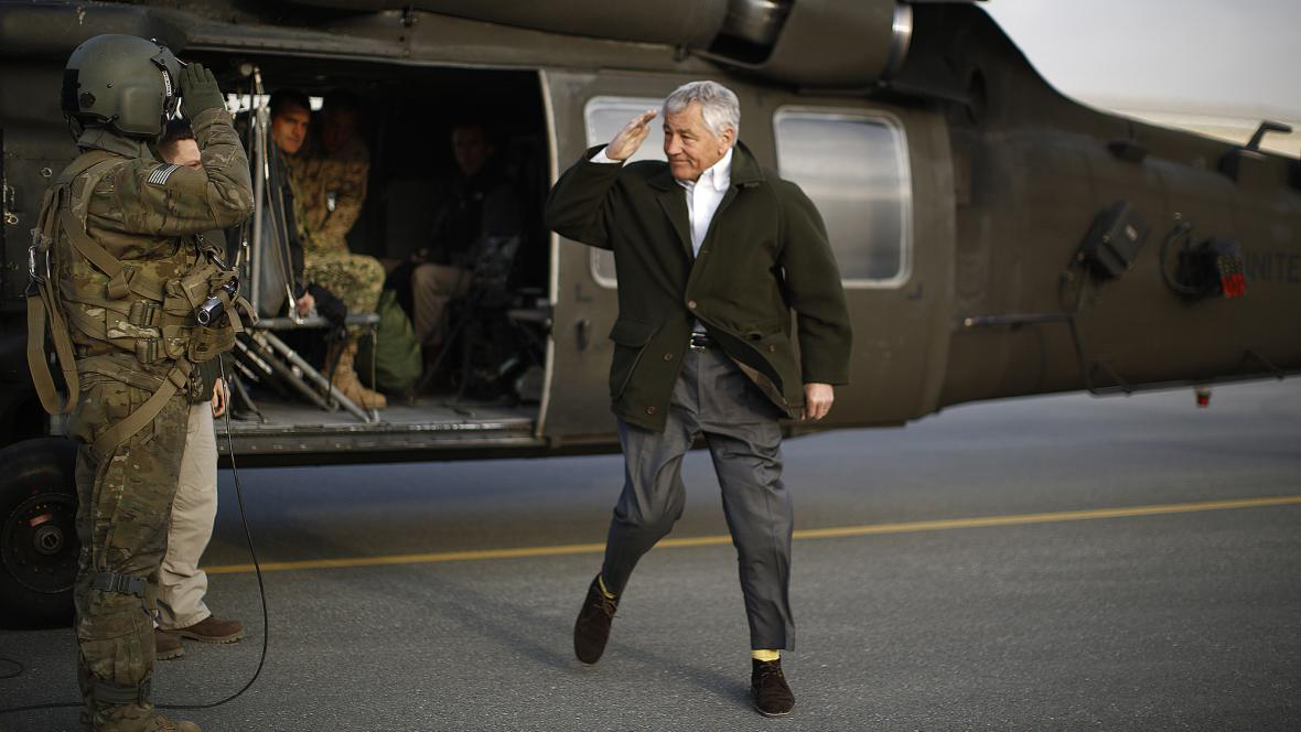 Chuck Hagel v Kábulu