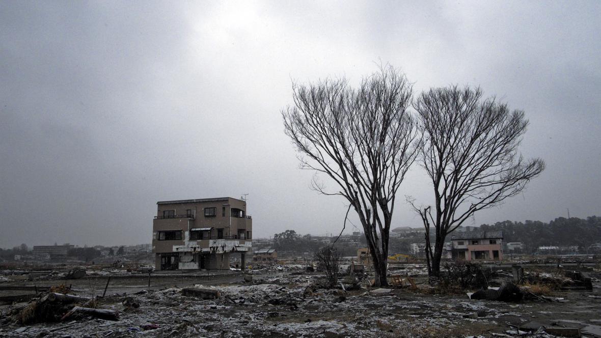 Japonské pobřeží rok po vlně tsunami