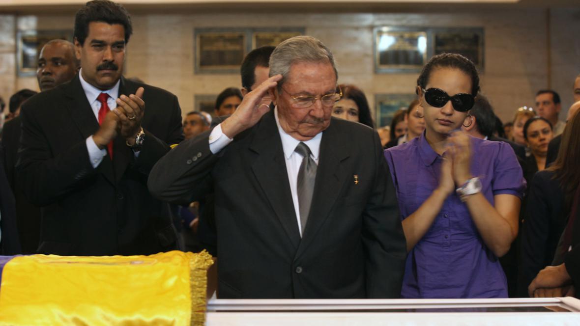 Nicolas Maduro, Raúl Castro a Rosa Virginia Chávezová