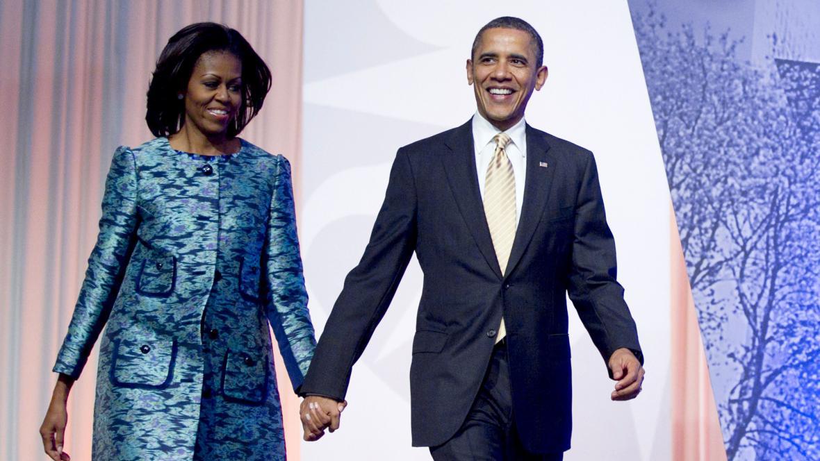 Michelle Obamová a Barack Obama