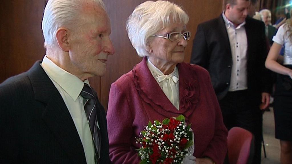 Manželé Galasovi oslavili platinovou svatbu