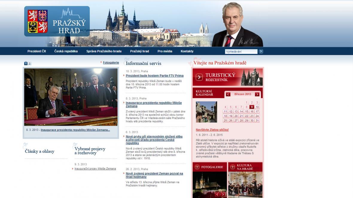 Internetové stránky Pražského hradu