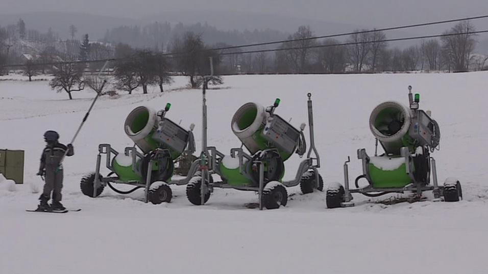 Sněžná děla zajistí dostatek sněhu