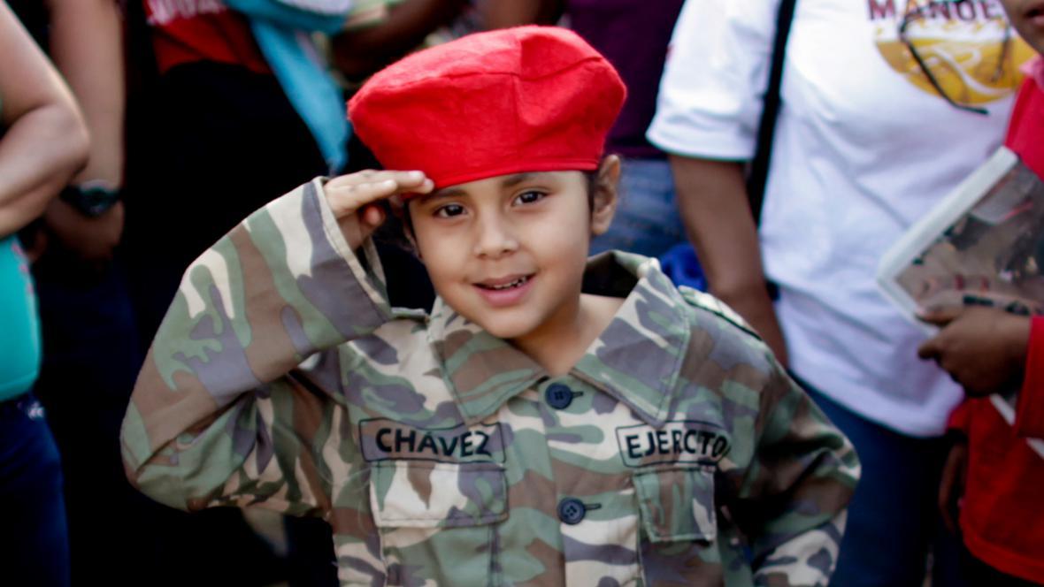 Pro Cháveze truchlí i venezuelské děti