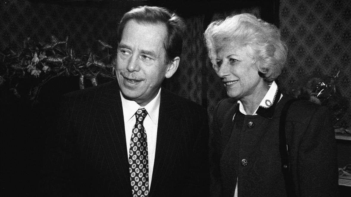 Václav Havel se svou první ženou Olgou