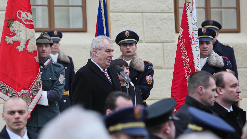 Miloš Zeman po inauguraci