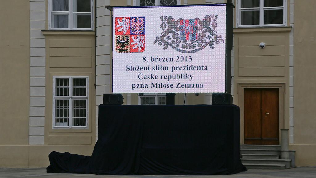 Přípravy na příchod Miloše Zemana na Hrad