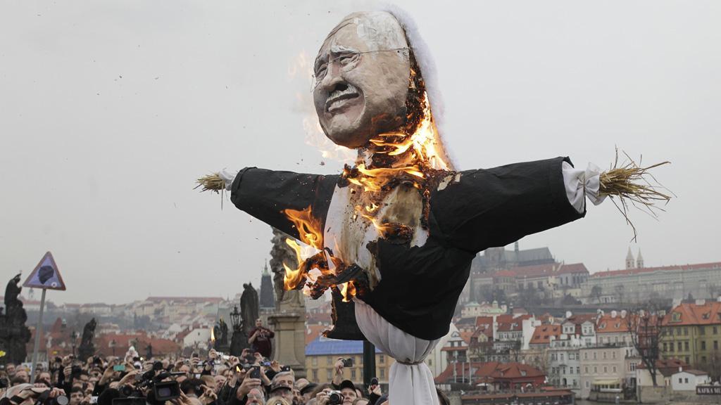 Morana v podobě Václava Klause