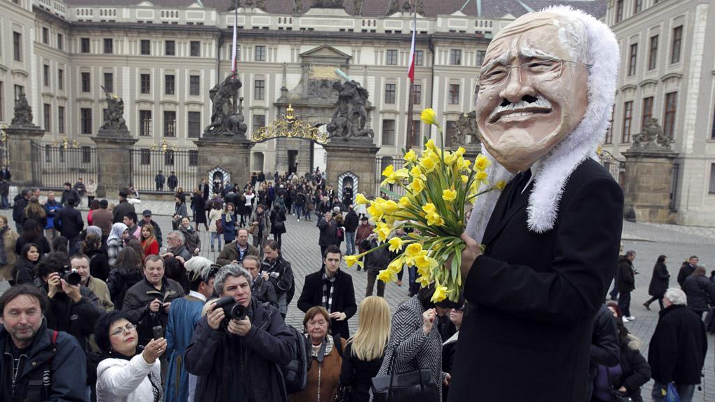 Oslava odchodu Václava Klause z funkce