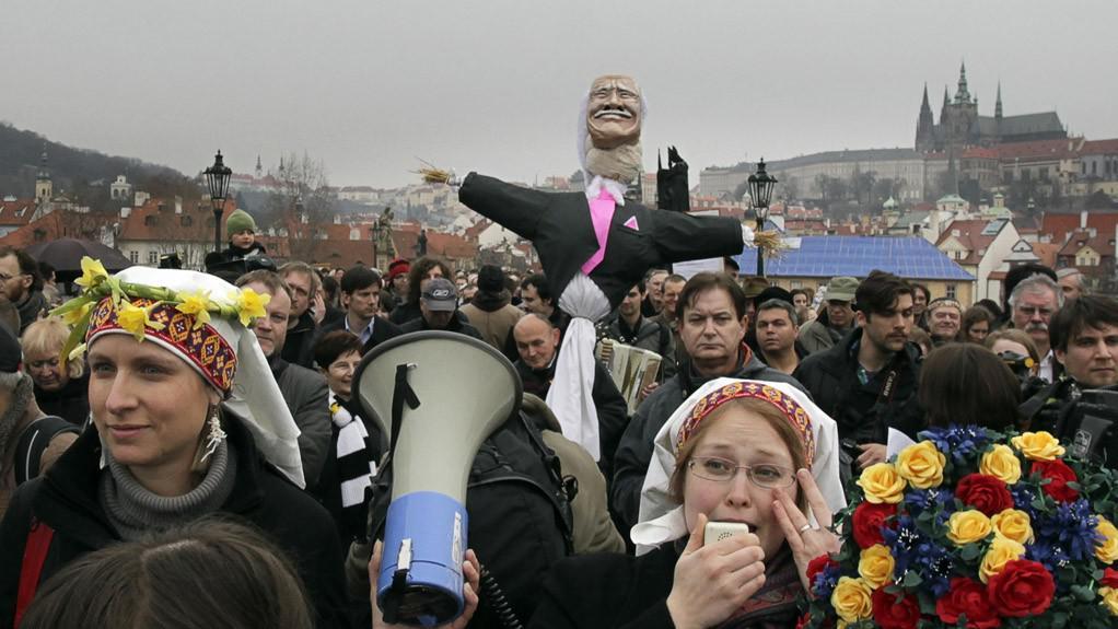 Oslava konce mandátu prezidenta Klause
