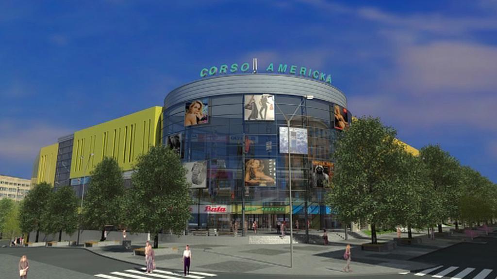 Vizualizace nového multifunkčního centra v Plzni