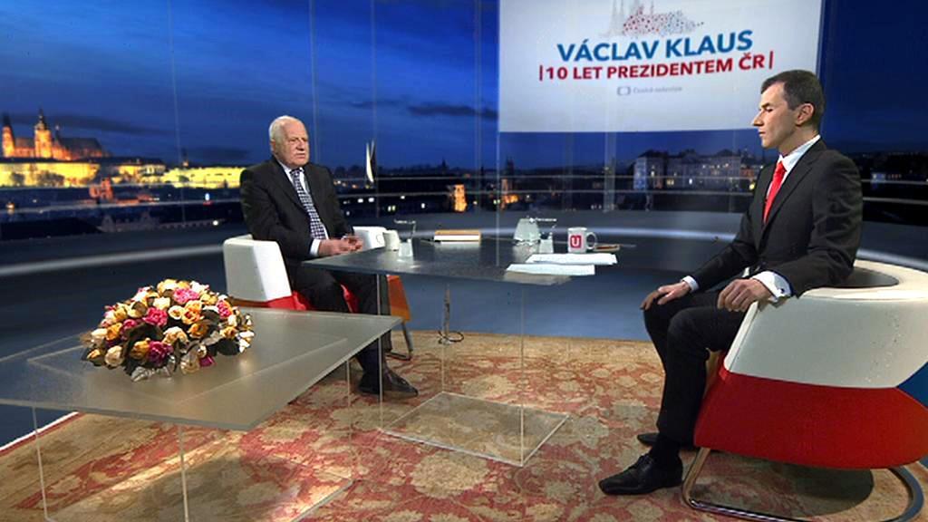 Prezident Václav Klaus ve Studiu ČT