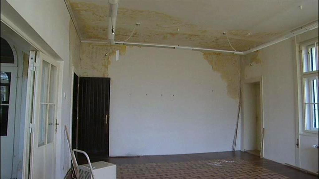 Poškozený interiér