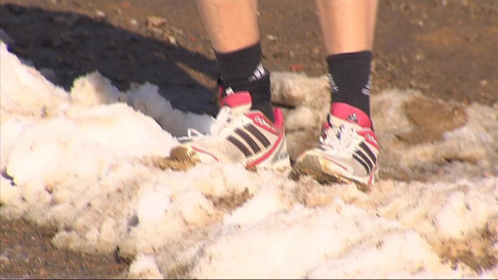 Bláto a sníh na trati ve Vranově u Brna nechyběly
