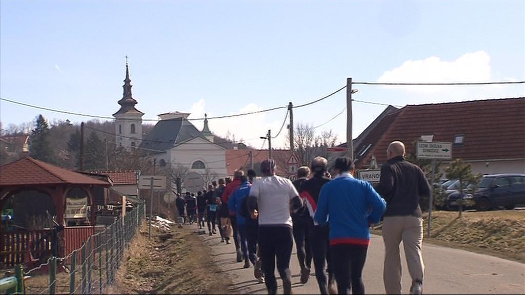 Trať ve Vranově u Brna kombinovala přírodní terén s kulturními památkami