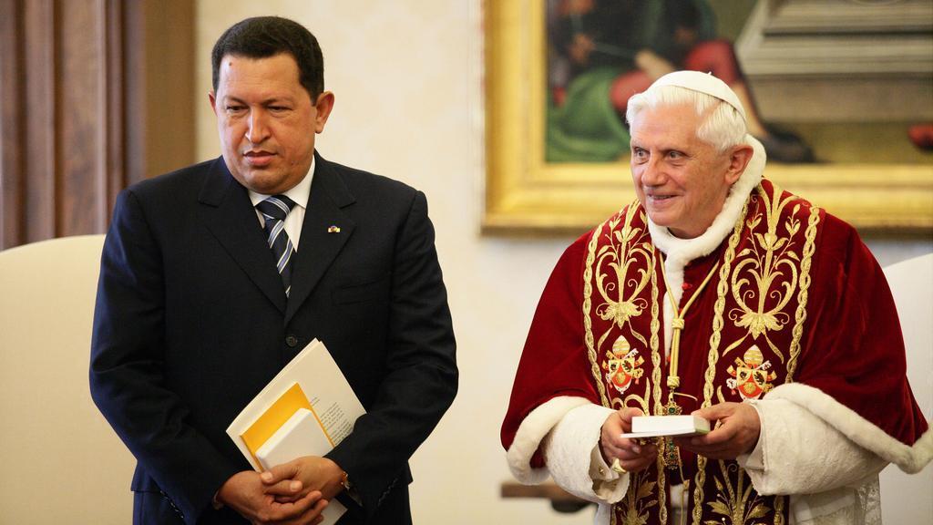 Hugo Chávez s Benediktem XVI.