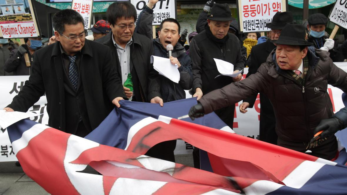 Jihokorejci reagují na jaderný test KLDR