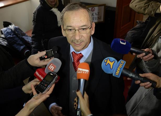 Jaroslav Kubera na jednání Senátu
