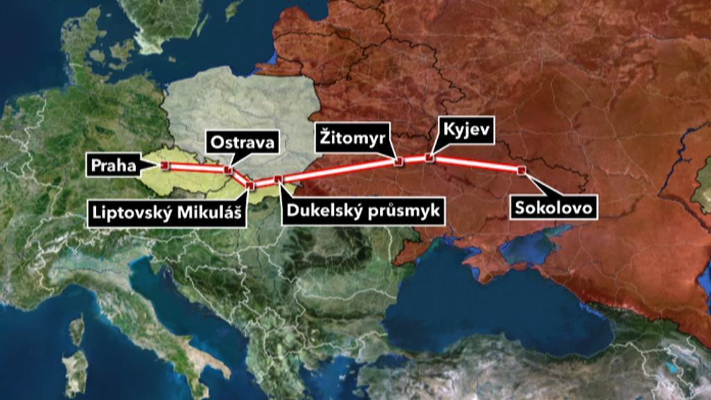 Cesta československých jednotek do Prahy