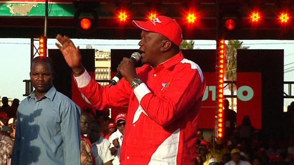 Prezidentský kandidát Uhuru Kenyatta