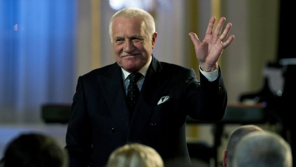 Václav Klaus na akci Díky nejen za jazz, pane prezidente