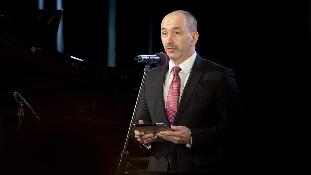 S děkovným proslovem vystoupil ministr průmyslu a obchodu Martin Kuba