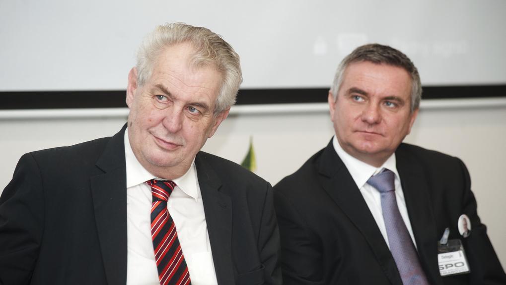 Miloš Zeman na sjezdu SPOZ v Kunovicích
