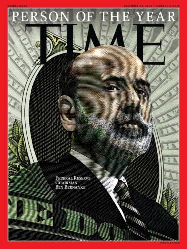 Ben Bernanke - osobnost roku časopisu Time