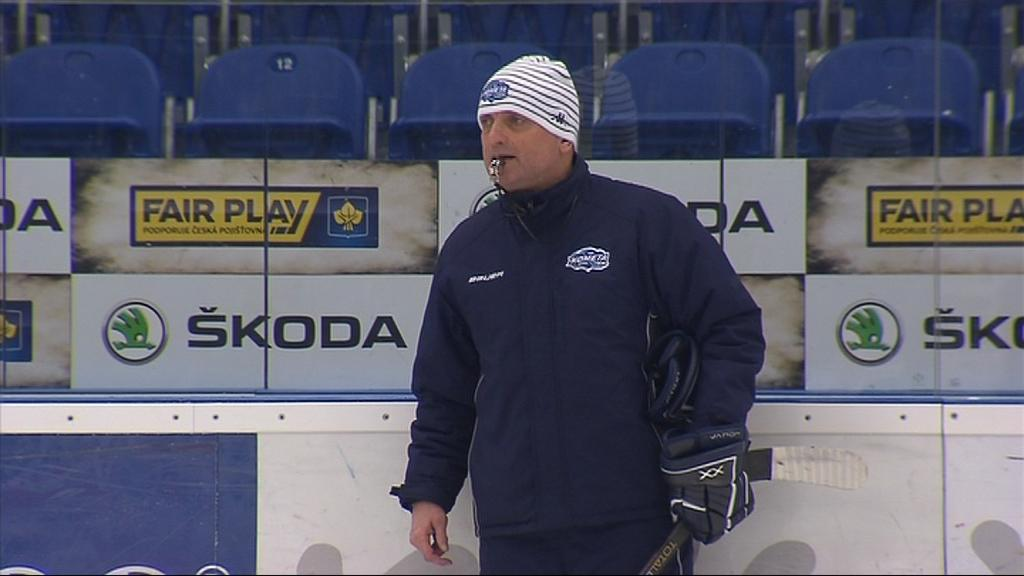 Vladimír Kýhos dnes poprvé vedl trénink