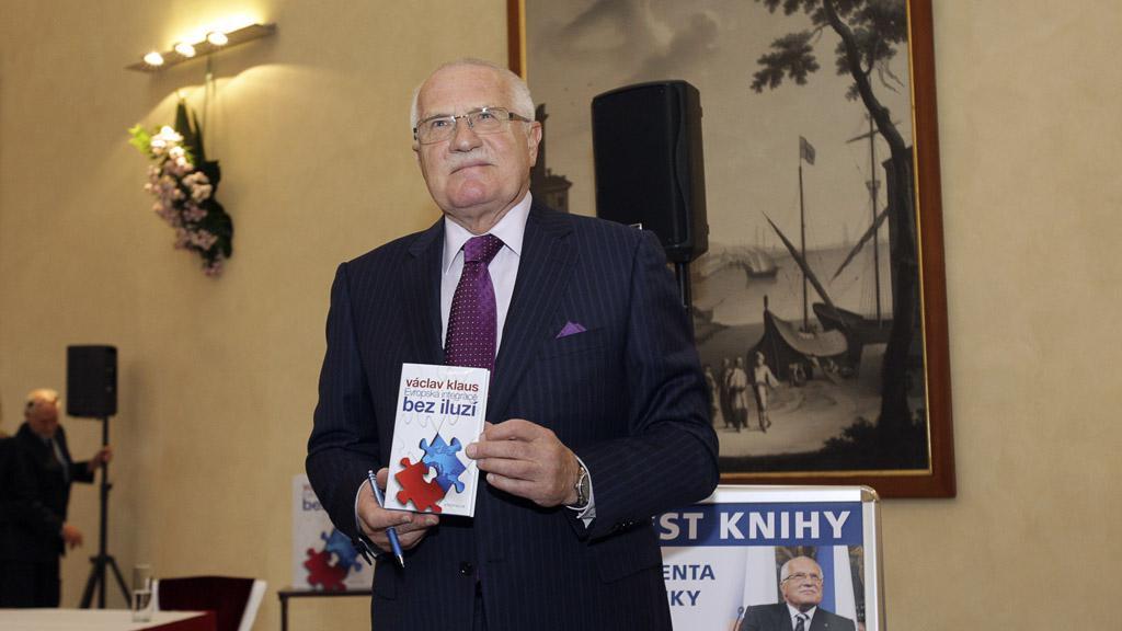 Václav Klaus představuje svou knihu
