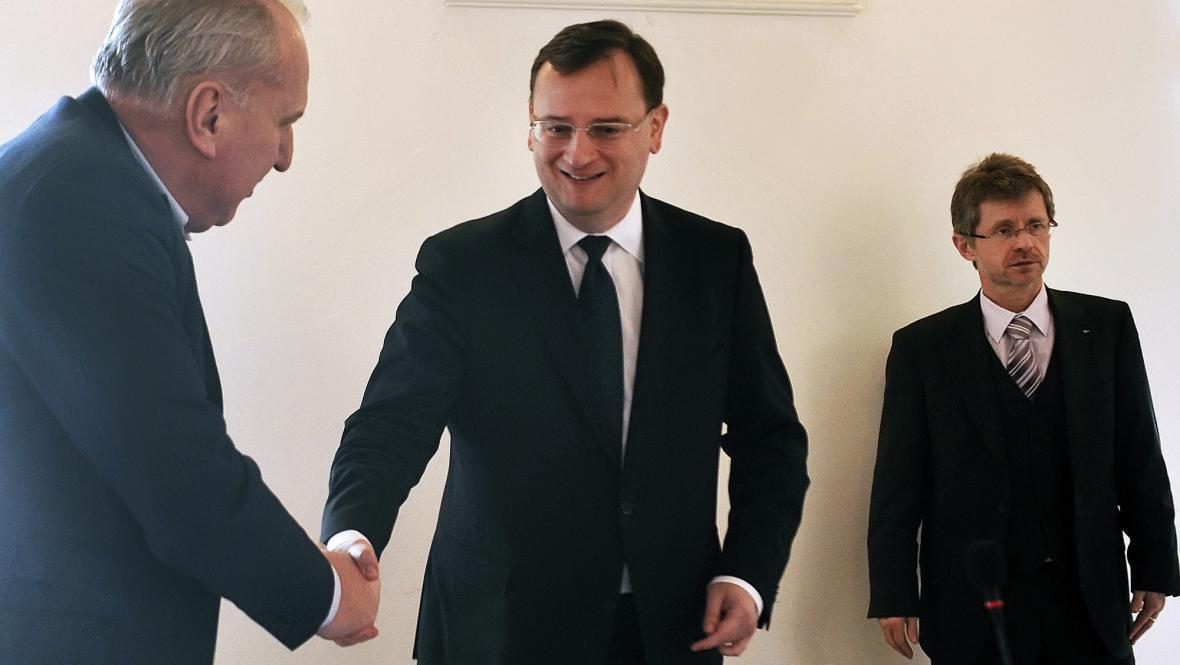 Petr Nečas na jednání výkonné rady ODS
