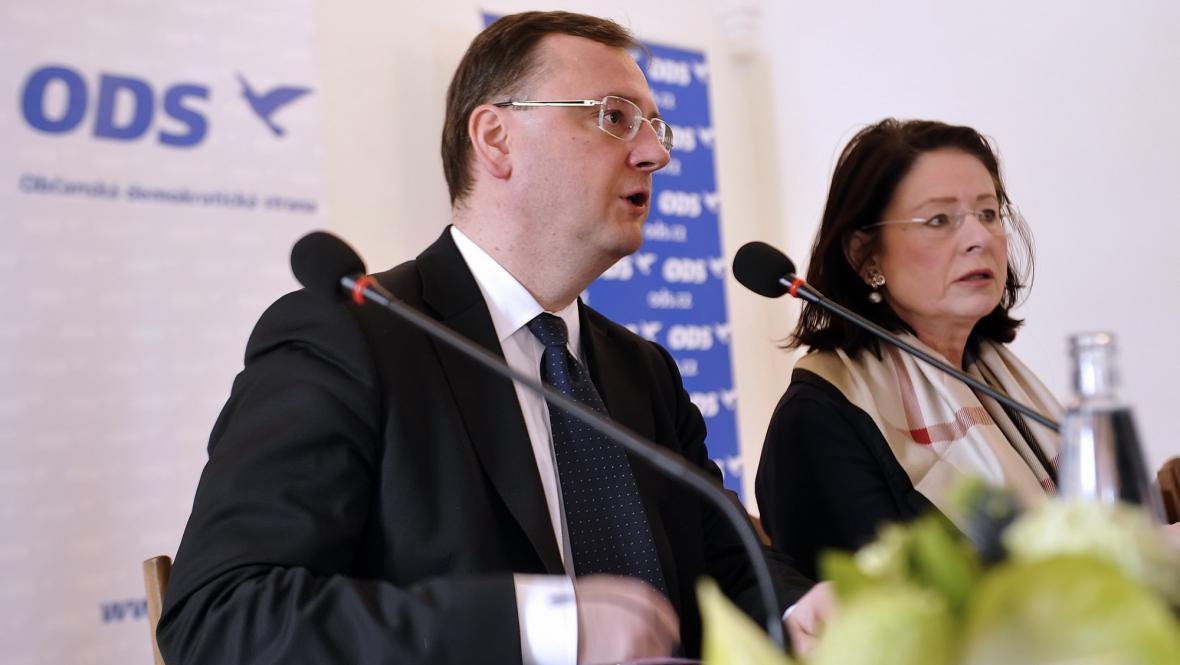 Petr Nečas a Miroslava Němcová