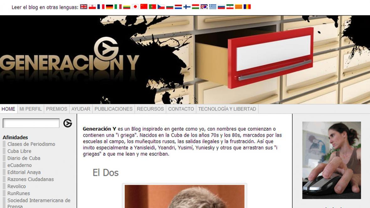 Blog Yoani Sánchezové